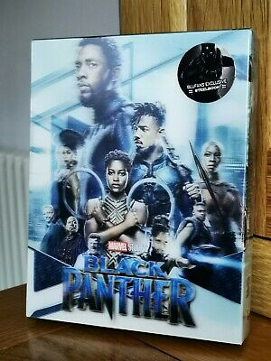 Blufans Marvel BLACK PANTHER lenticular Blu-ray Steelbook NEW & SEALED