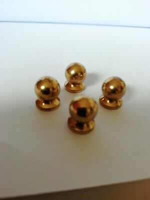 4 x reclaimed Clock Feet/TEA caddy Brass pawn feet Approx 8mm x10mm screw fit #1