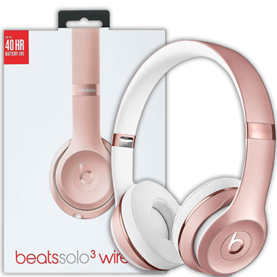 CUFFIE ON EAR BEATS BY Dr. Dre SOLO 3 WIRELESS SENZA FILI ROSE GOLD