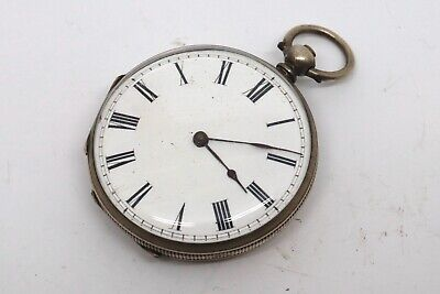 Antique Victorian Fine Solid Sterling Silver Ladies Fob Pocket Watch #17708