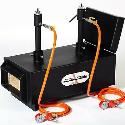 DFPROFLT(EMG) GAS PROPANE FORGE Furnace Burner Knife Making Blacksmith Farrier