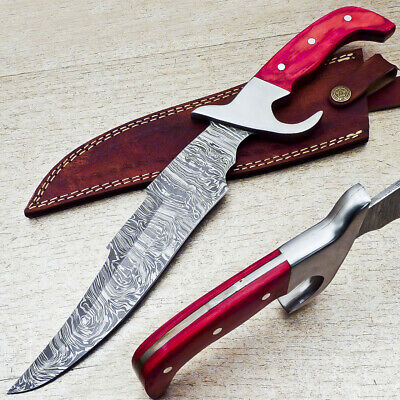 Stunning Custom Hand Forged Damascus Steel HUGE Bowie Hunting Knife - ST-8785