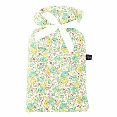 Famous Liberty London Fabric Felicite Floral Print Padded 2L Hot Water Bottle