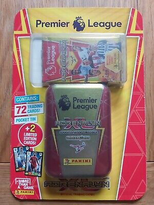 Panini Premier League 2019/20 Adrenalyn XL 72 Official Trading Cards+Pocket Tin