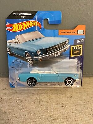 Thunderball 007 Hotwheels 65 Ford Mustang Convertible New Diecast Car James Bond