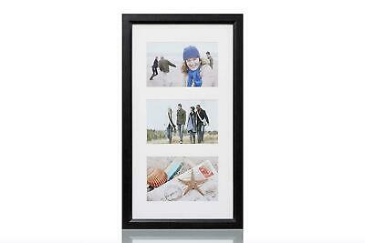 Picture Frame ARPAN MDF Multi Aperture Photo Picture Frame, Wood, Black,3 Images
