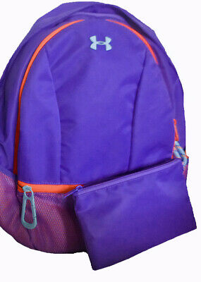 Under Armour UA Downtown Storm Black Girls Purple Backpack w/ Laptop Sleeve