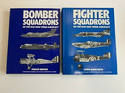 BOMBER/FIGHTER SQUADRONS OF THE R.A.F. AND THEIR AIRCRAFT - Hardback Books