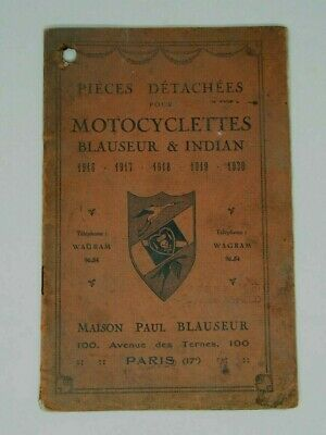 1916 Rare Catalogue Moto Ancienne Blauser Et Indian Catalog Indian Motorcycles
