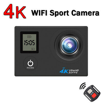 4K WiFi Action Camera Dual Screen Ultra 16MP Camcorder Remote Accessory Bundle