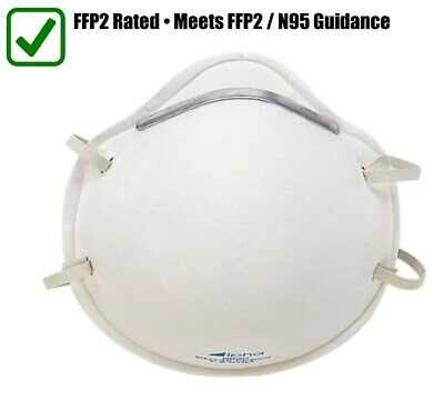 1 x WHO Approved Hygiene Face Dust Mask Meets FFP2/N95 Guidance P2 Rating