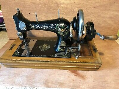 Gritzner Art Deco Period Hand Cranked Sewing Machine