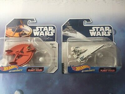 Hot Wheels Star Wars Starship Lot x2: Concept Star Destroyer & Landspeeder *NEW*