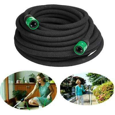 New Porous Soaker Hose Pipe With Connectors 15/30M Garden Outdoor UK