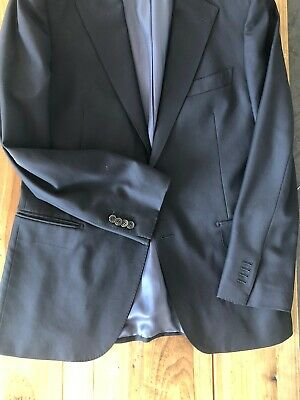 Suitsupply Solid Navy Suit 40R Super 110s Wool VBC