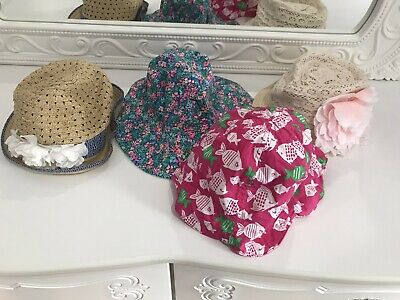 Sumer Hats Girls Size 3-5, Lot Of 4