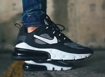 NIKE AIR MAX 270 React (GS) Youth BQ0103 003 BlackGrey UK 5