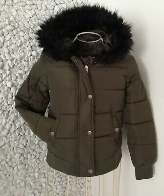 Girls age 7-8 dark green winter coat/jacket by YOUNG DIMENSION  hardly worn