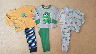Boys Next Dino Pyjama Bundle, 1.5-2 Years, Good Clean Condition