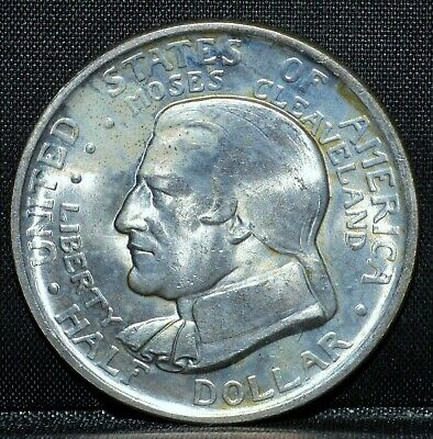 1936-P Cleveland Commemorative 50C ✪ Unc ✪ Half Dollar Great Lakes ◢Trusted◣