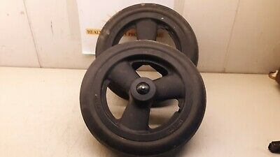 """Quickie Iris Wheel Chair Rear Wheels 12"""" Black With Quick Release Axles set of 2"""