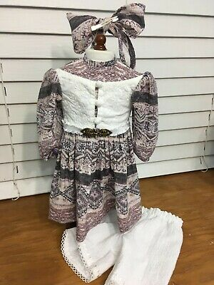 Made To Fit Pleasant Company American Girl: Addy's Belted Print Dress