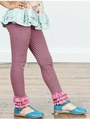 Matilda Jane Make Believe Friendly Mime Leggings Girls Size 4 Pants Preowned
