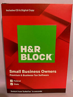 H&R BLOCK Tax Software Premium & Business 2019 - New, Free Shipping