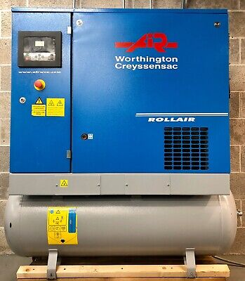 Worthington RLR750T Receiver Mounted Rotary Screw Compressor With Dryer! 29Cfm!