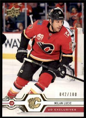 2019-20 Series 2 Exclusives Parallel #433 Milan Lucic /100 Calgary Flames