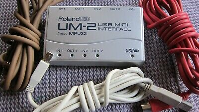 Edirol Roland Um-2 Um2 2-In / 2-Out Usb Midi Interface Mint Condit. With Cables!
