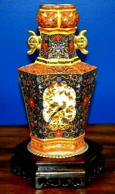 """11"""" Chinese Porcelain Conjoined Wedding Vase-***10% Off 4 The Pair!!! Asian"""