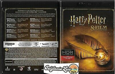 Harry Potter 8-Movie 4K Ultra Hd 8-Disc Collection Complete ✔☆Mint☆✔ No Digital