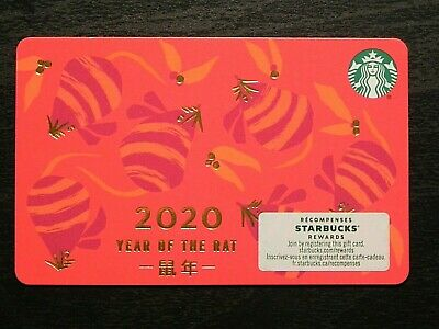 2020 Canada Chinese New Year Year of the Rat Starbucks Card NEW 6176 Line Marker