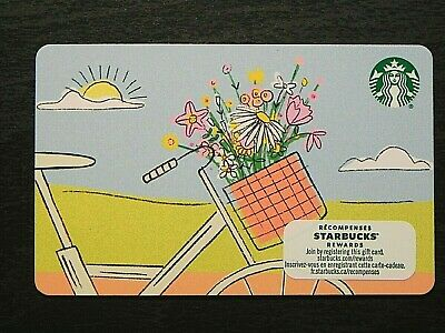 2020 Canada Spring Flowers Bicycle Starbucks Card NEW 6178