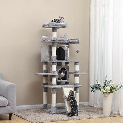67'' 5 Tier Cat Tree Tower Condo Furniture Scratching Kitty Pet Play House US