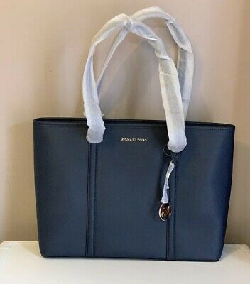 NWT MICHAEL KORS Sady Large Multifunction Pvc Leather Tote