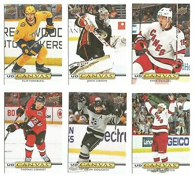 2019-20 Upper Deck Hockey Series 2 Ud Canvas (#C121-C210) U-Pick List