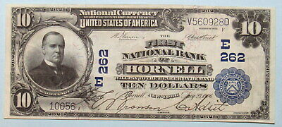 National Banknote series of 1902 $10 First National Bank of Hornell, NY E262