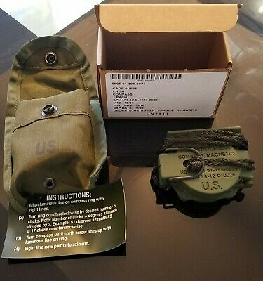 Cammenga Tritium Lensatic Military Magnetic Compass 3H Carrying Pouch