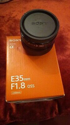 SONY SEL35F18 35mm OSS E-mount Lens.