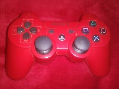 Red Playstation 3 Wireless Controller Sixaxis PS3 GREAT CONDITION - TESTED