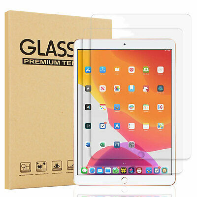 For iPad 10.2 inch 2019 7th Gen Clear Tempered Glass Screen Protector Cover sm