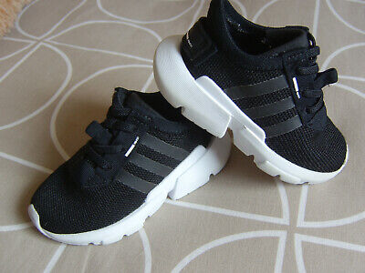"Pair Of Boys Or Girls Boxed Black Adidas ""Pod-S3 "" Trainers Size Uk 5 Euro 21."