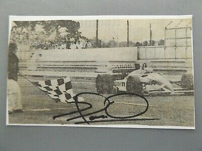 """HAND SIGNED 5"""" x 3"""" NEWSPAPER CUTTING MOUNTED ON CARD - NIGEL MANSELL - F1"""