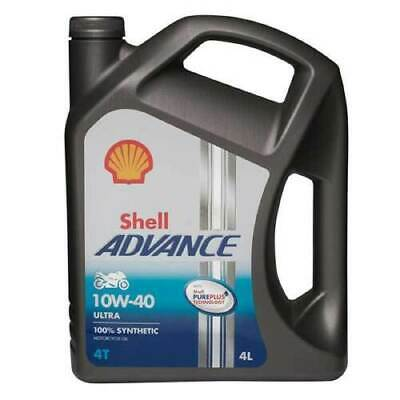 Shell Advance Ultra 10w-40 4T Motorcycle Engine Oil Fully Synthetic 4 Litre 4L