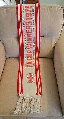 Old Arsenal 1979 Rare F.A. Cup Final Winners Football Scarf