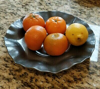 Arts & Crafts Large Pewter Fruit Bowl
