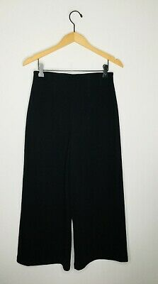 COS Black Size X Small Cropped Wide Leg Pant