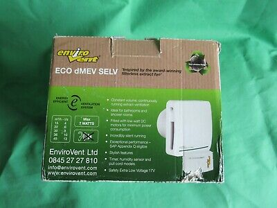 """Envirovent 4"""" ECO dMEV HTP 17 SELV Extractor Fan Trickle/Humidity/Timer/Pull'sw"""